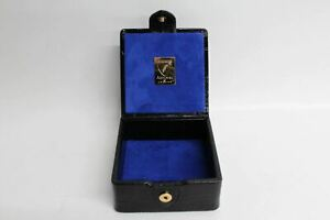 ASPINAL-OF-LONDON-JHM-Black-Leather-amp-Suede-Jewellery-Storage-Box-Trinkets-Case