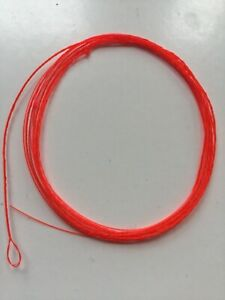 STRIKE-INDICATOR-SYSTEM-W-TIPPET-ASST-3-4-amp-5-WT-LINES-FLAME-ORANGE-fly-fishing