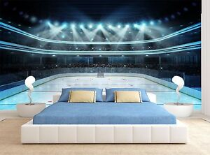 Lights Ice Hockey Rink Wall Mural Photo Wallpaper GIANT WALL DECOR