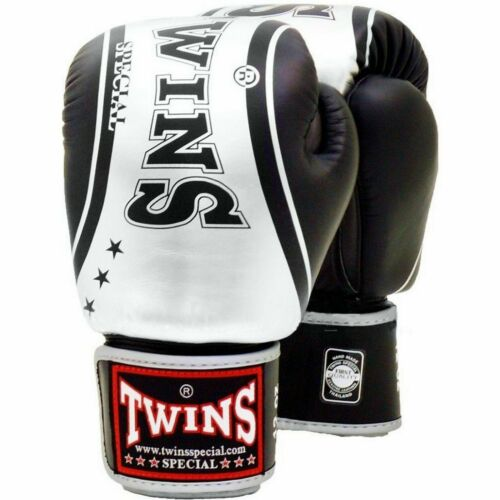 Twins Special FBGV-TW4 Sporting Train Velcro Leather MMA Muay Thai Boxing Gloves
