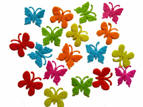 Felt Butterflies 3x3cm Craft Fabric Embellishments Multi Colours Pack of 18 Kids