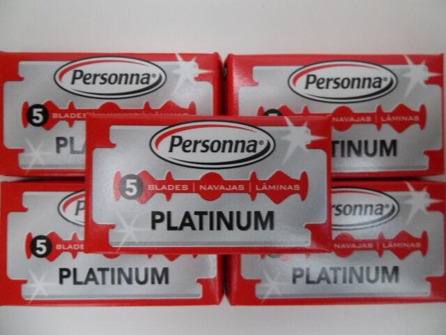 Israeli Personna Platinum Chrome Double Edge Stainless Steel 25 Blades