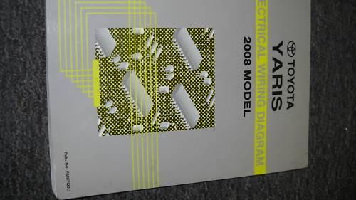 2008 Toyota Yaris Electrical Wiring Diagram Shop Repair