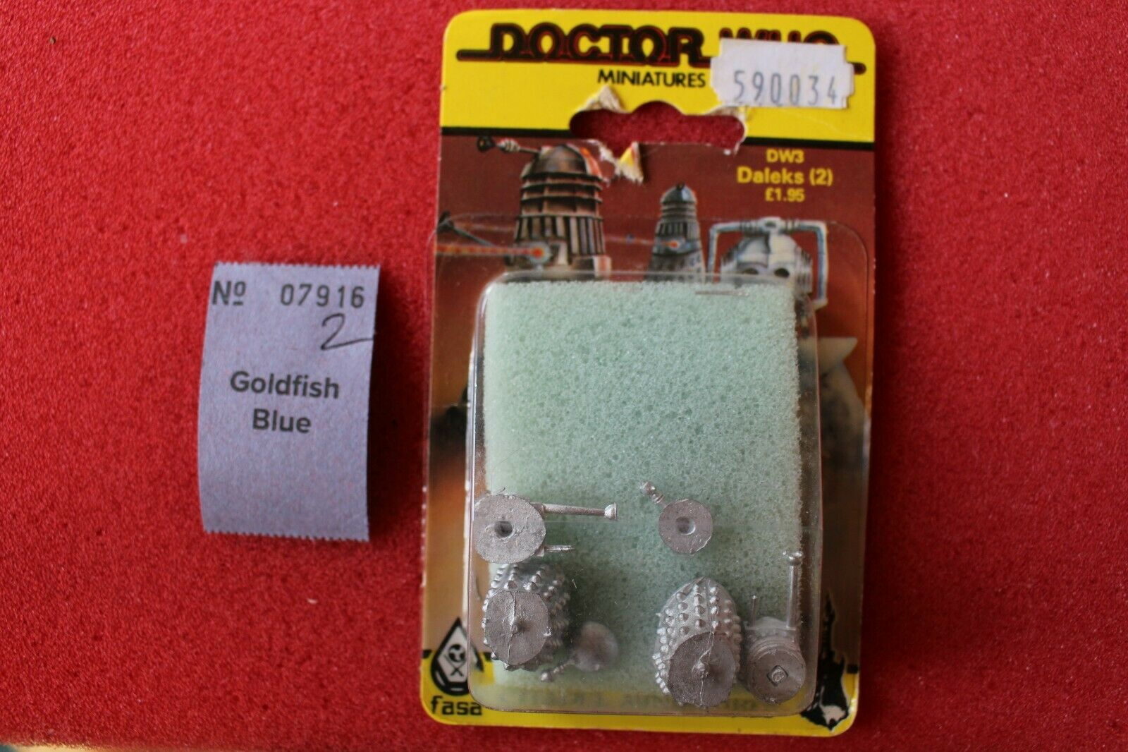 giocos  lavoronegozio CITTADELLA DW3 Dalek Dalek (2) DR WHO NUOVO CON SCATOLA IN METtuttiO cifra FASA 1986  acquisti online