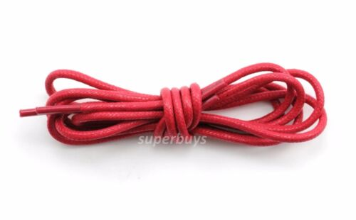 "Red 80cm Round Wax Waxed Cotton Shoe Work Boot Cord Dress Laces 32/"" 3//4 Eyes"