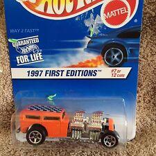 HOT WHEELS 1997 FIRST EDITION #514~~WAY 2 FAST~~#7 0F 12 CARS~~ORANGE