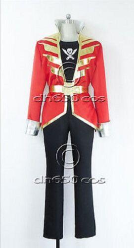 Kaizoku Sentai Gokaiger Gokai Red Cosplay Costume UK