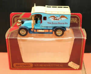 Matchbox-Models-of-Yesteryear-Y-25-1910-Renault-Type-AG-THE-EAGLE-PENCIL-CO