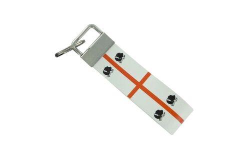 Keychain stripe key lanyard flag keyring ring car jdm remote sardinia sadegna