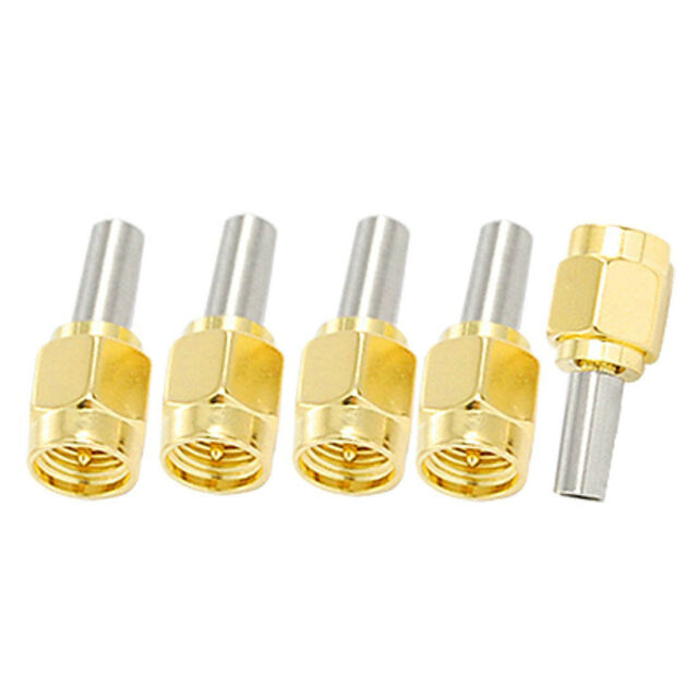 5pcs SMA Male Plug Straight Crimp RG316 RG174 Rf Adapter Connector D4Z6