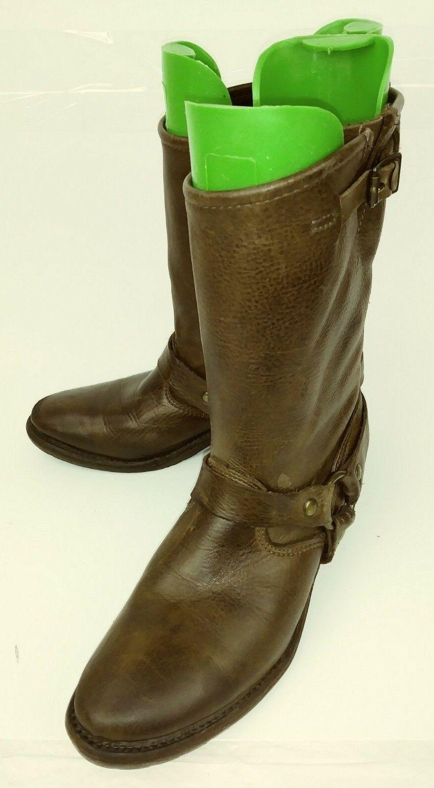 negozio a basso costo Vintage Brand Brand Brand donna stivali Western US6.5M Marrone Leather Harness Ring Riding 2459  vendita calda online