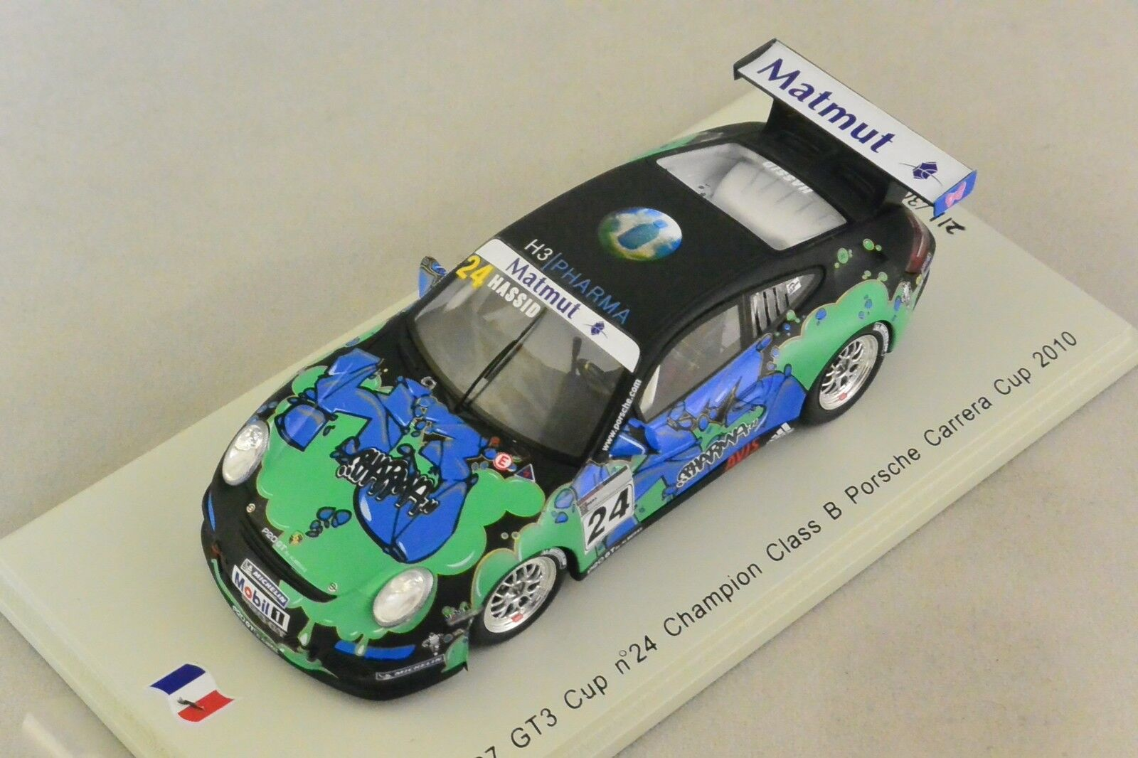 Spark sf069-porsche 997 gt3 cup champion class b 2010 H. hassid 1 43
