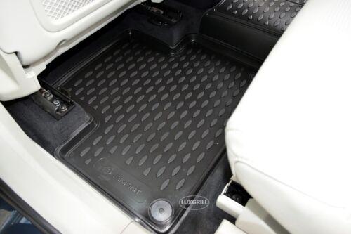 3D Tapis de sol caoutchouc à bords hauts pour VOLVO V90 2016-prés NOIR