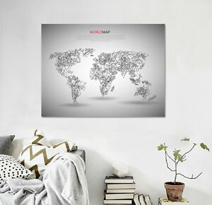 3d world map 54 wall stickers vinyl murals wall print decal deco art image is loading 3d world map 54 wall stickers vinyl murals gumiabroncs Image collections