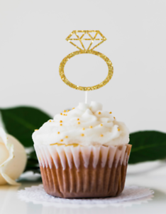 SALE 10 Pieces Eid Mubarak Silver Glitter Cupcake Topper Islamic