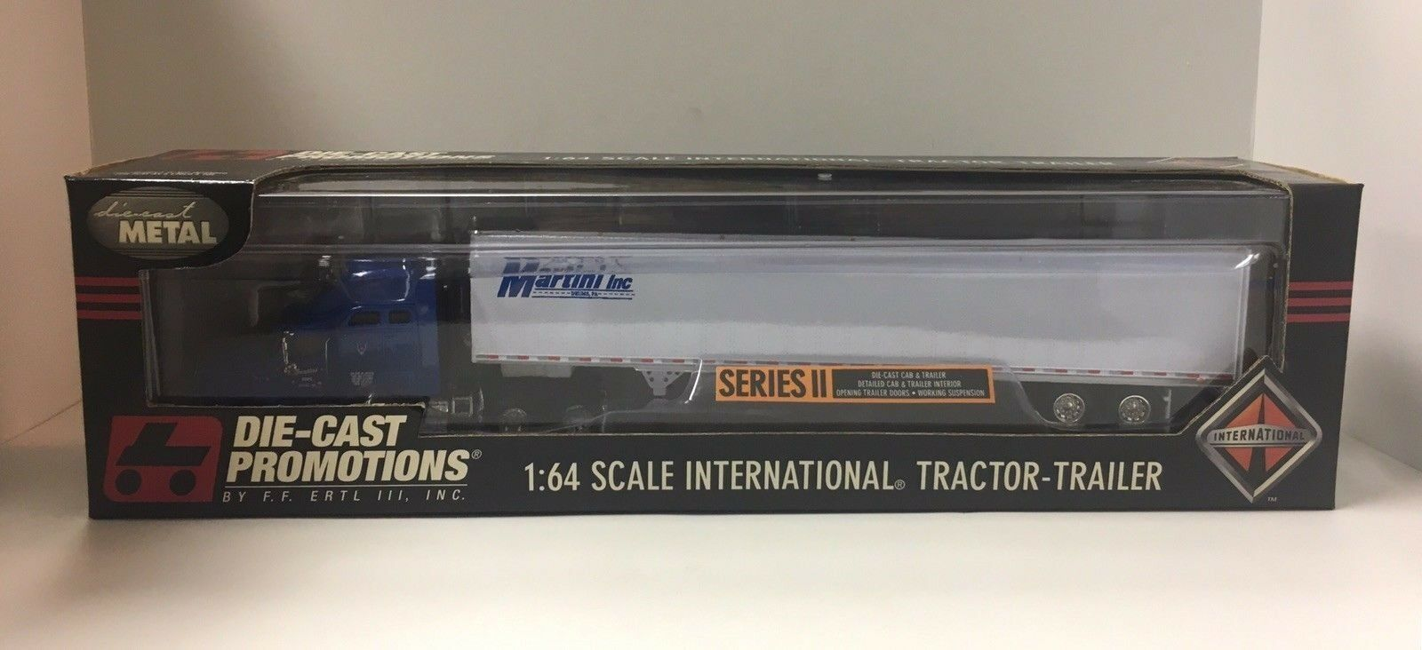 DCP Die Cast Promotions 1 64 2001 Martini Inc. Tractor & Trailer Ertl Series NOS