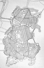 Gotham City Map Original Art - Unique! Famous! Batman Joker