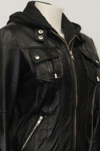 Fleece Designer Fashion Womens Cotton Black Leather Hooded Girls Nikki Jacket 7wta0qUU