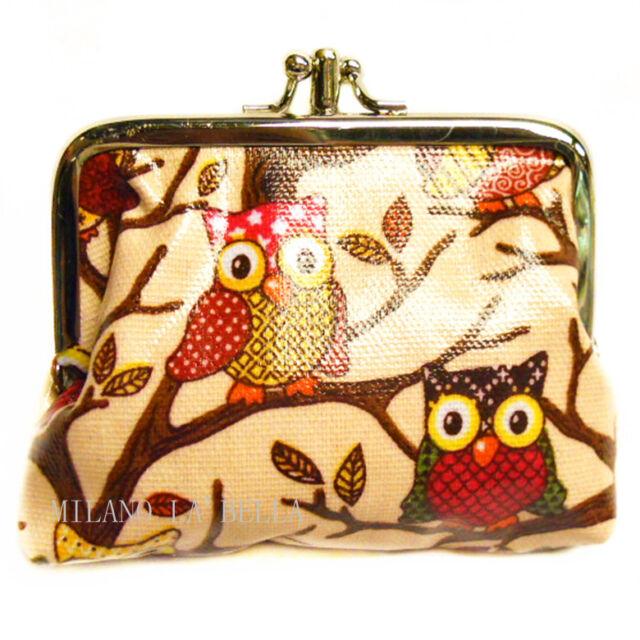 Cupcake Owl Animal Print Flower Polka dot LYDC Oil Cloth Coin Purse Anna Smith