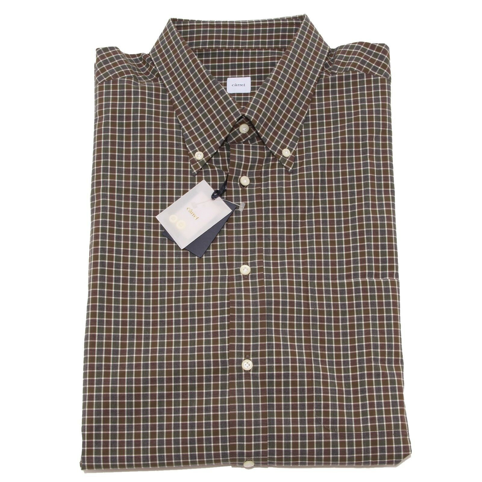 8337P camicia uomo quadretti CARREL manica lunga shirt men