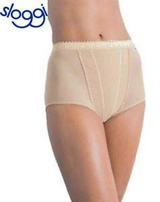 Sloggi Tummy Control Knickers Nude//White Twin Pack BNWT 10-26