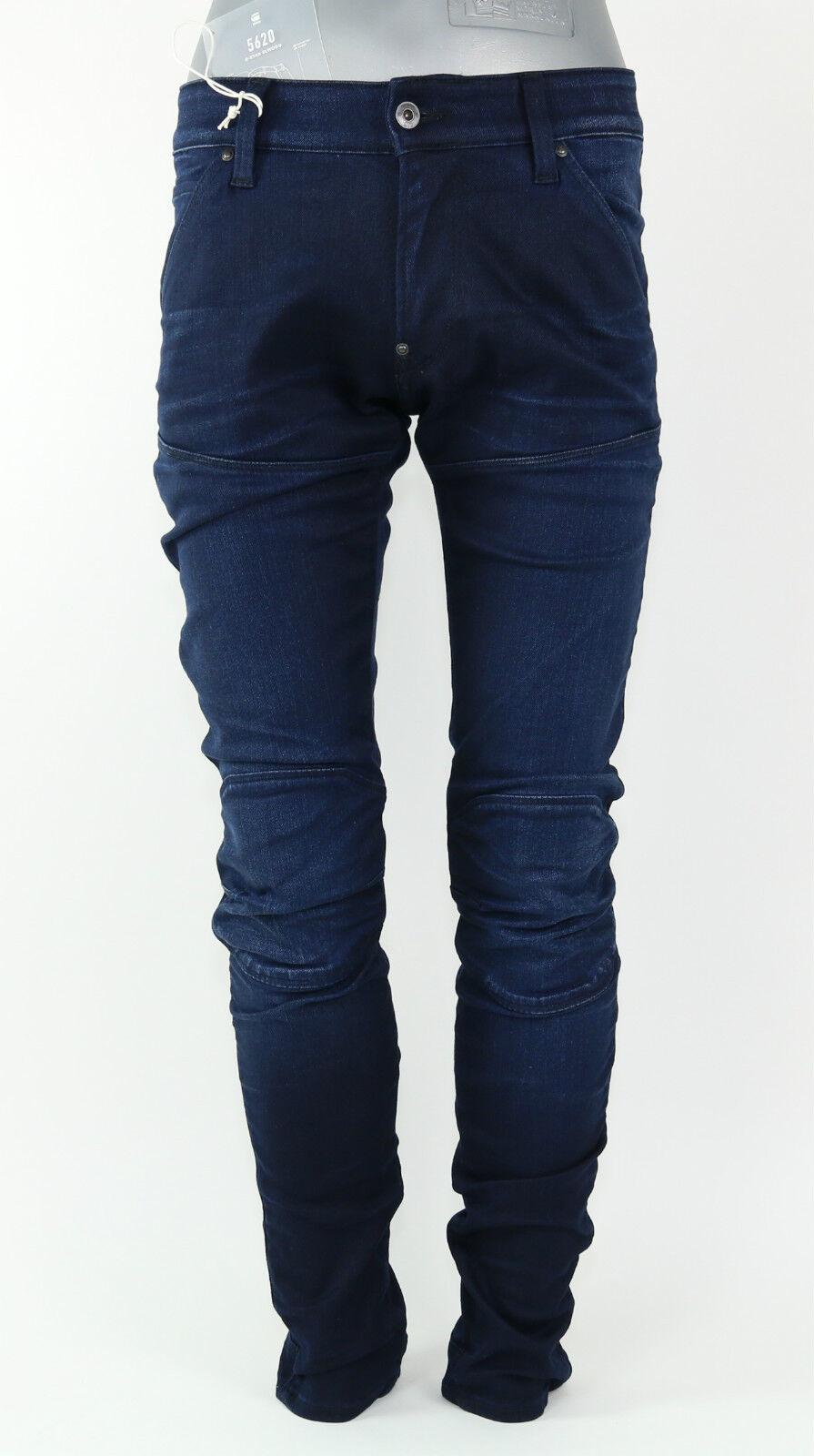 G Star Jeans 5620 3D Super Slim - 51026.6590.89 - DK Aged - Dark bluee +NEW+