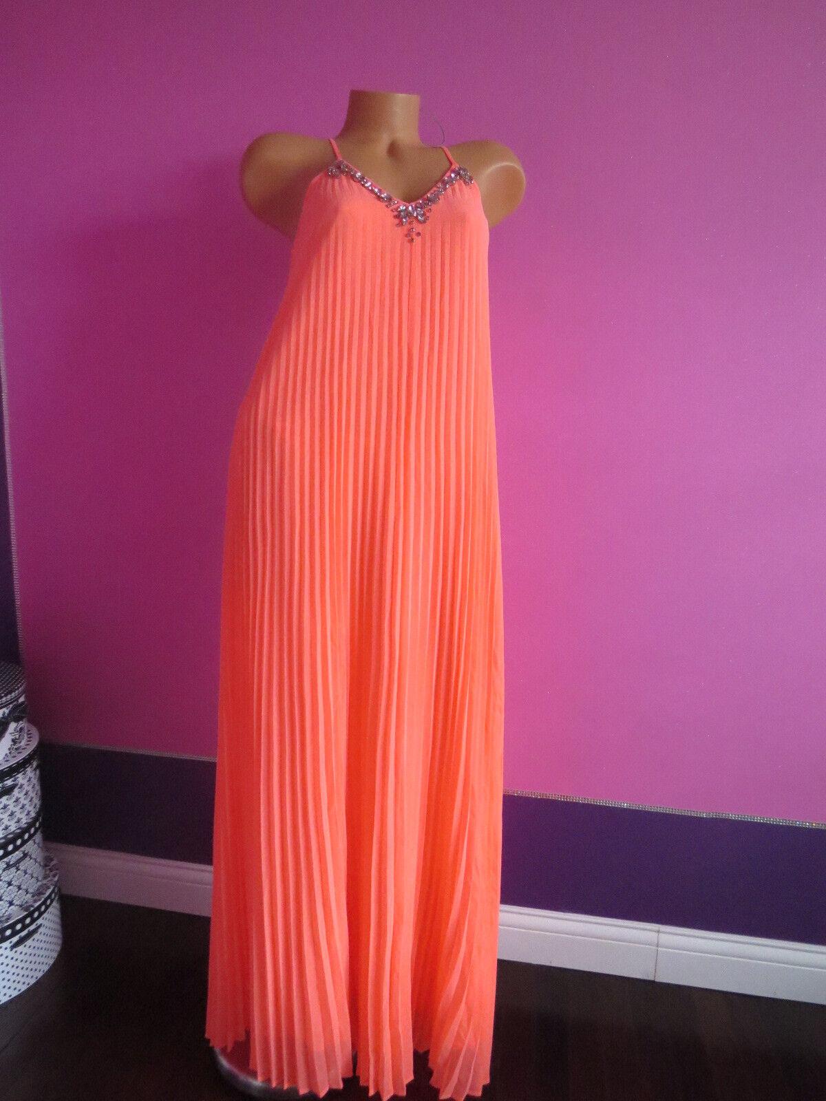 NEW  128 Victoria's Secret   Knife-Pleat Maxi Dress SZ X-SMALL+BLING