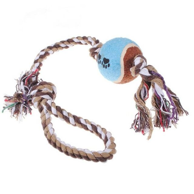 Toy to chew for small dog cat rope knot puppy small animal U7A9