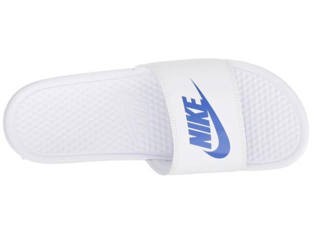 e6d671f87 Nike Men s Benassi Just Do It Athletic Sandal Nk343880 102 White varsity  Royal 10 M US