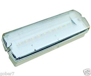LED-Emergency-light-3Hr-bulkhead-NM-amp-M-Battery-inc-IP65-By-Fern-Howard