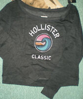 Hollister Soft So Cal Shores Beach Sweatshirt Dark Gray Large Or Med
