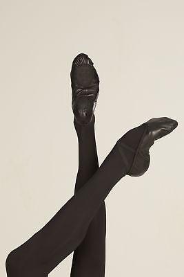 WM406 Split Sole Wear Moi Black Leather Ballet Shoes Medium Width