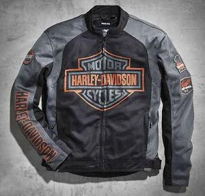 Mens Skull Mesh Riding Jacket Harley Davidson