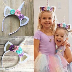 Magical Unicorn Horn Head Party Kid Hair Headband Dress Cosplay
