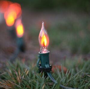 Flicker-Flame-Halloween-Mini-Light-Bulbs-E12-Candelabra-Base-C7-Clear-20-Bulbs