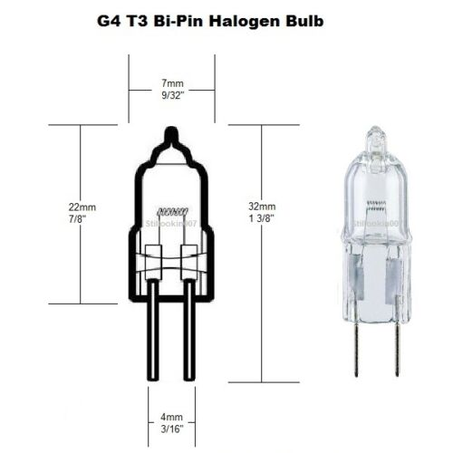 Landscape light bulbs 10 Watt Halogen Replaces 12v G4 Malibu bulbs 10