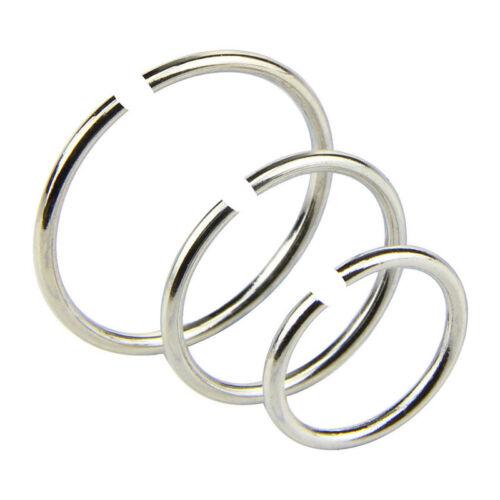 14Px//Set Stainless Steel Hinged Segment Nose Ring Bone Studs Hoop Body-Pierci TW