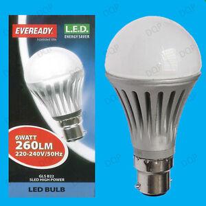 6x-6W-LED-Ultra-Basse-Consommation-Allumage-Instantane-Perle-GLS-Globe
