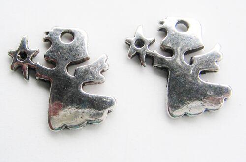 Metallanhänger Engel Stern 18x20mm 10 Stück SERAJOSY Weihnachtsdeko