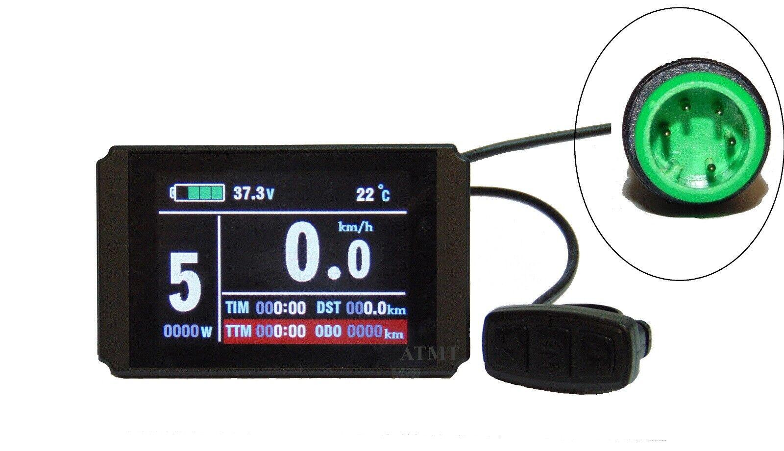 E-Bike Farbdisplay LCD8H TFT colour display für NCB Umrüstsatz mit KUNTENG CTRL