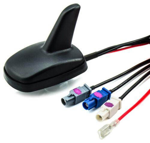 DAB GPS FM antenne pour Audi à partir de 2004 cm Shark FAKRA 5 m Câble Actif