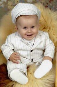 Taufanzug-5Tlg-Babyanzug-Taufe-Junge-Nadelstreifen-NEU-62-68-74-80-86-Hochzeit