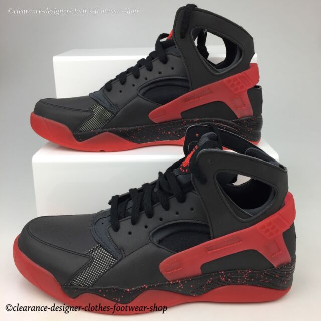 factory price 8e6ae 4ea5f NIKE AIR FLIGHT HUARACHE PRM QS TRAINERS NEW RARE LOVE HATE PACK SHOES UK 10