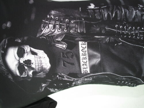BlackRock Herren T-Shirt Skull Gangster Totenkopf stylisch Slim Fit Biker Gang