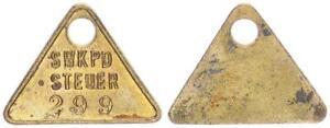 Deutsch-Südwestafrika Hundesteuermarke Swakopmund Nr.299 (1904) 60398