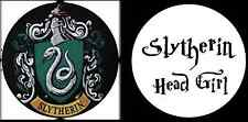 Harry Potter Slytherin Head Girl Novelty Humour Funny 25mm Button Pin Badges x2