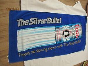FRANCO beach towel VINTAGE  Coors Light Silver Bullet LK NU