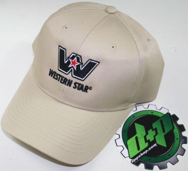 western star semi trucker hat ball cap truck adjustable back diesel gear tan