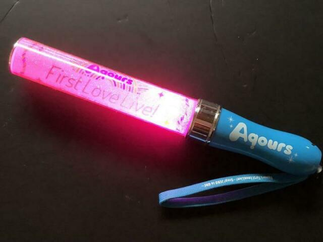 Aqours First Live Step Zero To One Pen Light Stick Blue Used Love Live Sunshine