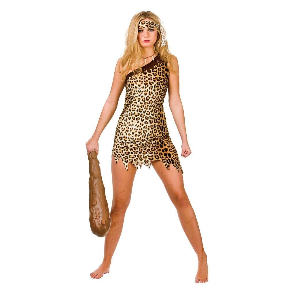 Cavewoman Cave Girl Flintstones Jungle Womens Fancy Dress Costume Outfit